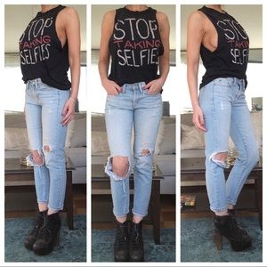 "UNIF ""Stop Taking Selfies"" Tank"